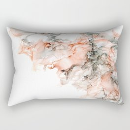Blushing Storm Abstract Art Rectangular Pillow