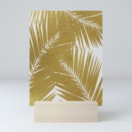 Palm Leaf Gold III Mini Art Print