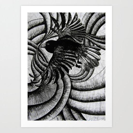 Crazy Burd! Art Print