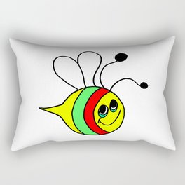 Friendly drawn bee for children and adults Rectangular Pillow
