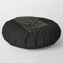 Man in the Arena / Theodore Roosevelt Black & Yellow Floor Pillow