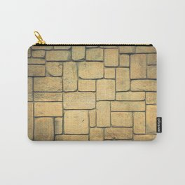 Stone Geometric Carry-All Pouch