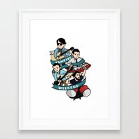 vampire weekend Framed Art Prints featuring Vampire Weekend by Knifeson