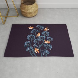 Birds Are singing Rug
