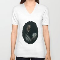 cosmos V-neck T-shirts featuring Cosmos by mycolour