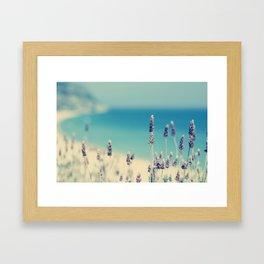 beach - lavender blues Framed Art Print