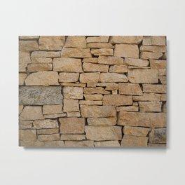 Brown brick Metal Print