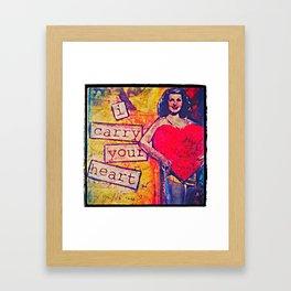 I Carry Your Heart Framed Art Print