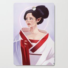 Elf Lady Painting Cutting Board