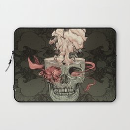 Red Fish and Smokey Skull Laptop Sleeve
