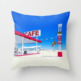 Roys Hotel Throw Pillow