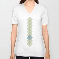 three of the possessed V-neck T-shirts featuring three by Vera P
