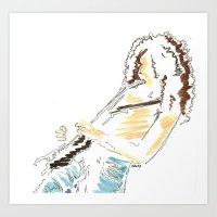tim shumate Art Prints featuring Tim by Saltz