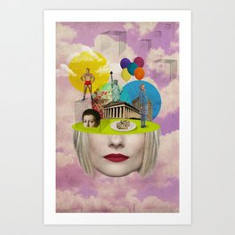 Modern Vintage Collection -- Uncertainty Art Print