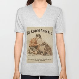 Be Kind To Animals 3 Unisex V-Neck