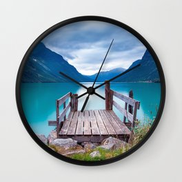 Magnificent Pier In Bergen Norway Ultra HD Wall Clock