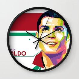 CristianoRonaldo artwork Wall Clock