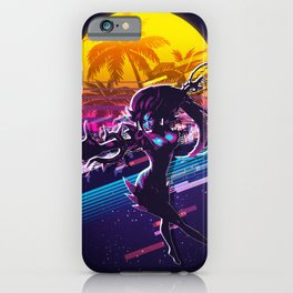 zyra league of legends game 80s palm vintage iPhone Case