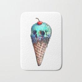 Ice Cream Skull Bath Mat