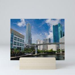 Summer day on the Miami River Mini Art Print