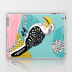 What - memphis tropical retro neon throwback 1980s 80s style hipster abstract bird vacation nature Laptop & iPad Skin