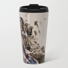 BRONX BOXING BOYS - sepia/blue version Travel Mug