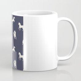 Horse Print (Navy Slate) Coffee Mug