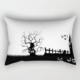 HALLOWEEN BLACK AND WHITE Rectangular Pillow