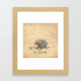 Mr. Porcupine Framed Art Print