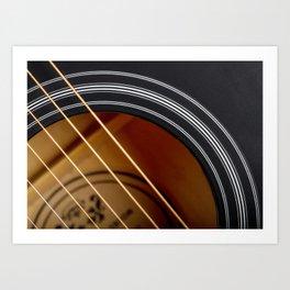 Guitar String Abstract 4 Art Print