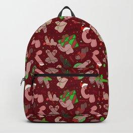 Merry Dickmas, Red Pattern Backpack