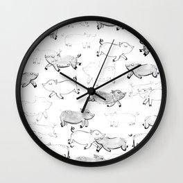 Pigs pattern Wall Clock