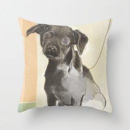 Canine Debutante Throw Pillow