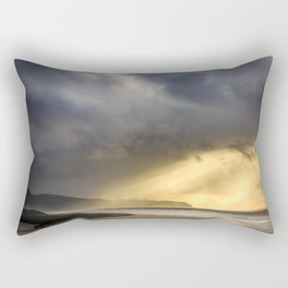 Sunlight and Storms Over Cape Lookout, Oregon Rectangular Pillow