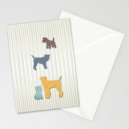 Going To The Dogs Plaid Terriers Stationery Cards