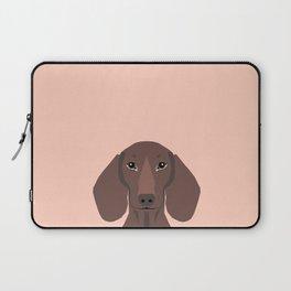 Remy - Daschund hipster dog, doxie, weiner dog, wiener dog,  Laptop Sleeve