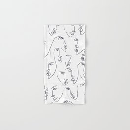 Twin Flames Black and White Hand & Bath Towel