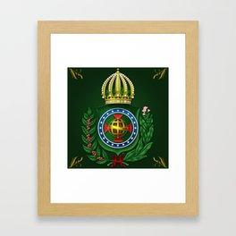 Dom Pedro II Coat of Arms Framed Art Print
