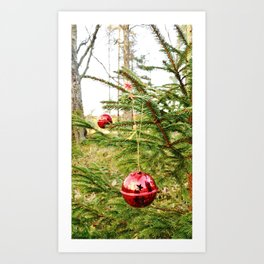 Christmas balls outdoors Art Print