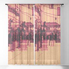 RF295 Town - X54 Sheer Curtain