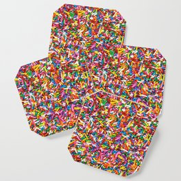 Rainbow Sprinkles Sweet Candy Colorful Coaster