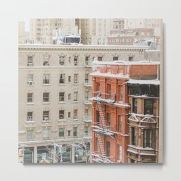 Upper West Side Snow Globe - NYC Photography Metal Print