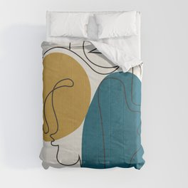 Abstract Faces 26 Comforters