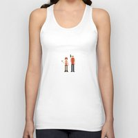 fifth element Tank Tops featuring 8-bit Fifth Element by MrHellstorm