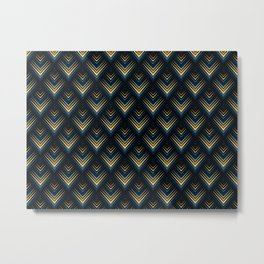 pattern geometric peacock blue Metal Print