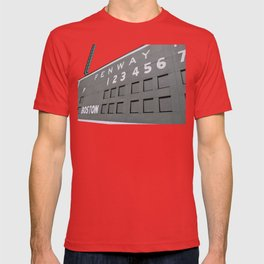 Fenwall -- Boston Fenway Park Wall, Green Monster, Red Sox T-shirt