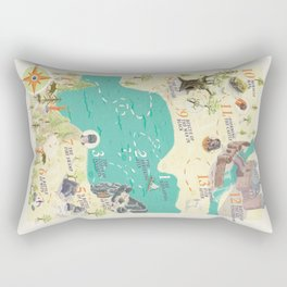 Princess Bride Discovery Map Rectangular Pillow