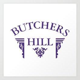 Butchers Hill Classic Style Logo Art Print