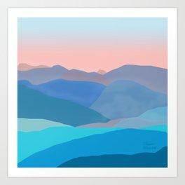 Blue c. mountains Art Print