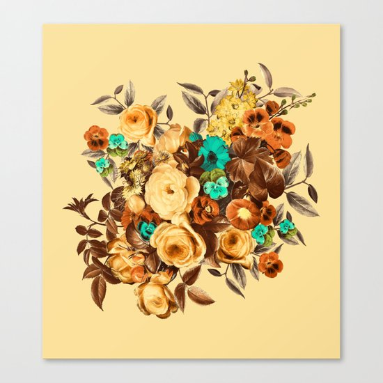 Watercolor Floral Pattern Canvas Print